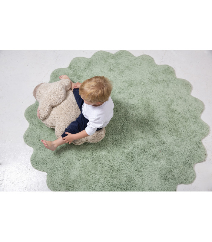 tapis rond puffy sheep o140 cm lavable en machine