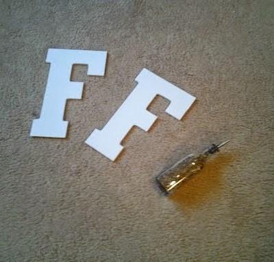 DIY 3D Letter Monogram
