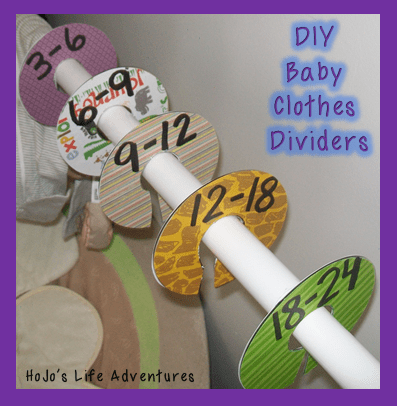 DIY Baby Clothes Dividers from old CDs