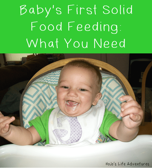 Baby's First Solid Food Feeding - What You Need