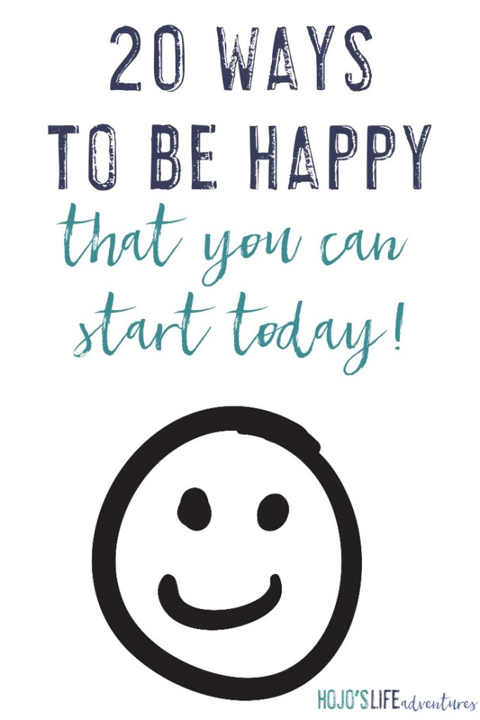 Being happy doesn't have to be hard work. Here are 20 ways to be happy! You can start any one of them TODAY! Why wait? Click through to make your life better and happier NOW!