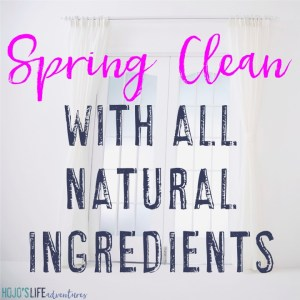 Are you wanting to spring clean with only all natural products? This article will show you how! {Keep your family and pets safe with all natural cleaning ingredients that actually work!}