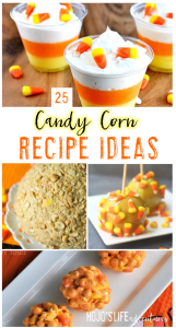 Candy Corn - YUM! If you're on the lookout for candy corn recipes for this fall or Halloween season, look no further! With 25 great recipes to choose from, you'll be all set! Make them for your next party, with your kids, or really for just any reason you can! It is candy corn after all!
