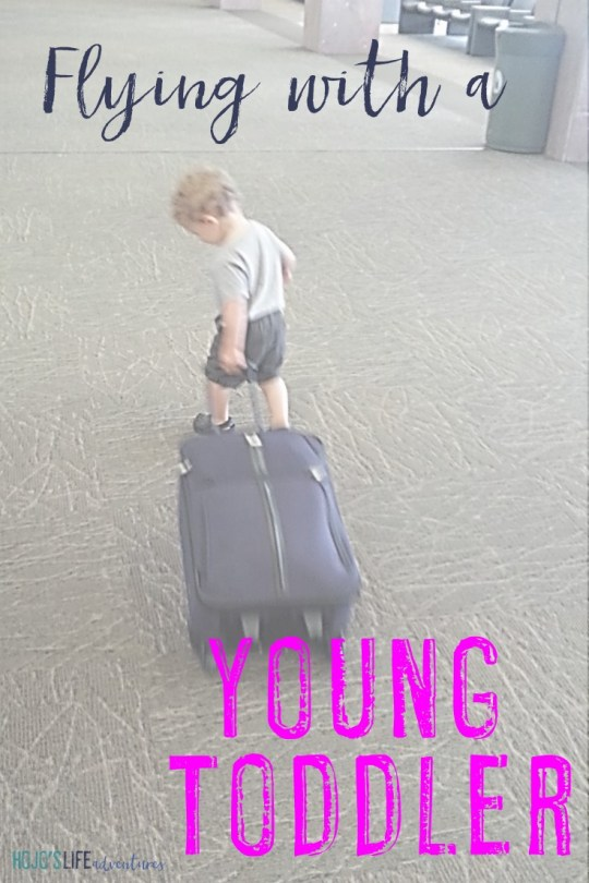 Are you flying with a young toddler? Then you're going to love these tips and ideas from one mom who recently took her 16-month-old son on four flights with success!