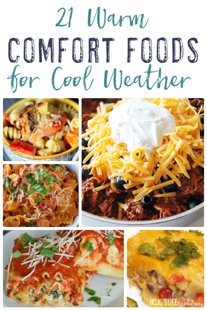 Cool weather. Cold winter nights. Comfort foods! You're going to love this round up of 21 different warm comfort foods to keep your belly warm on those cool nights.