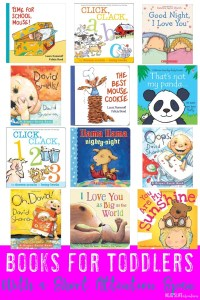 Do you have a baby or toddler with a short attention span? Then you're going to LOVE these book ideas to help them learn to love books! Check out the word count, start reading short stories, and get them hooked on reading! Plus there are a few other great tips as well!