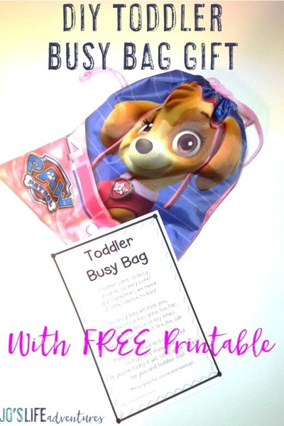 DIY Toddler Busy Bag Gift with FREE Printable!
