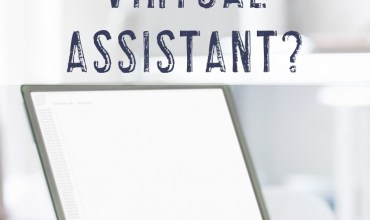 "Computer image with text ""How much can I make as a virtual assistant?"""