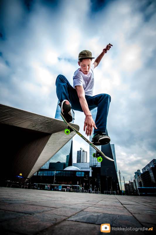 straatfotografie, skater, Rotterdam CS