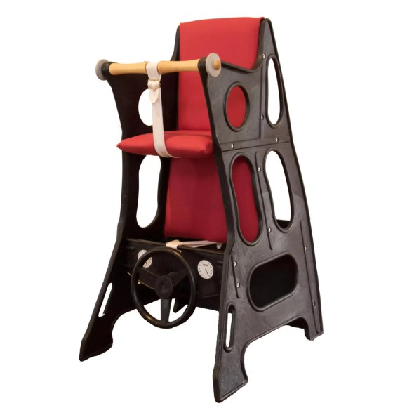 Swedish High Chair  – Hokus Pokus Red/Black