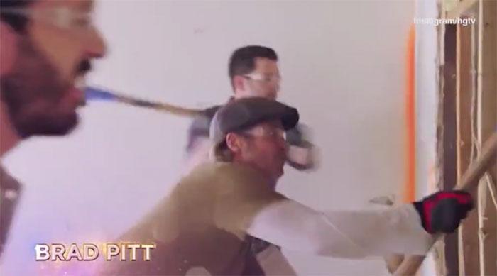 Brad Pitt en el programa de los gemelos Scott