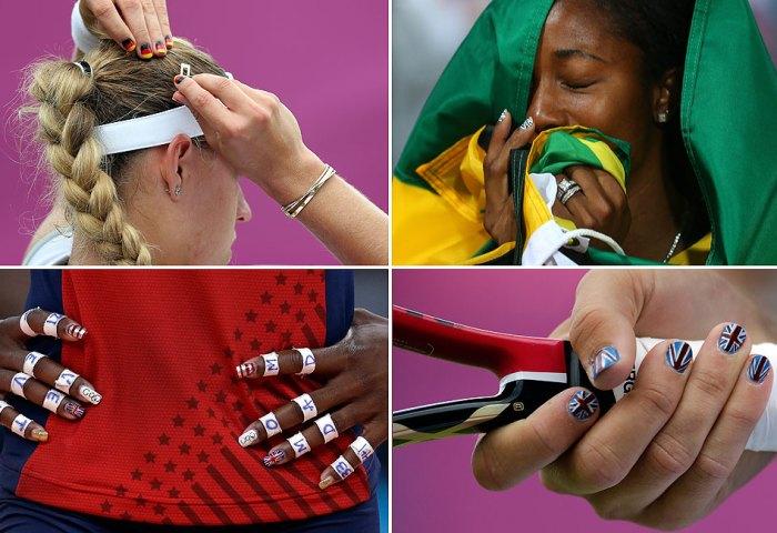 Y La Tendencia Ganadora De Londres 2012 Es La Manicura Patriótica