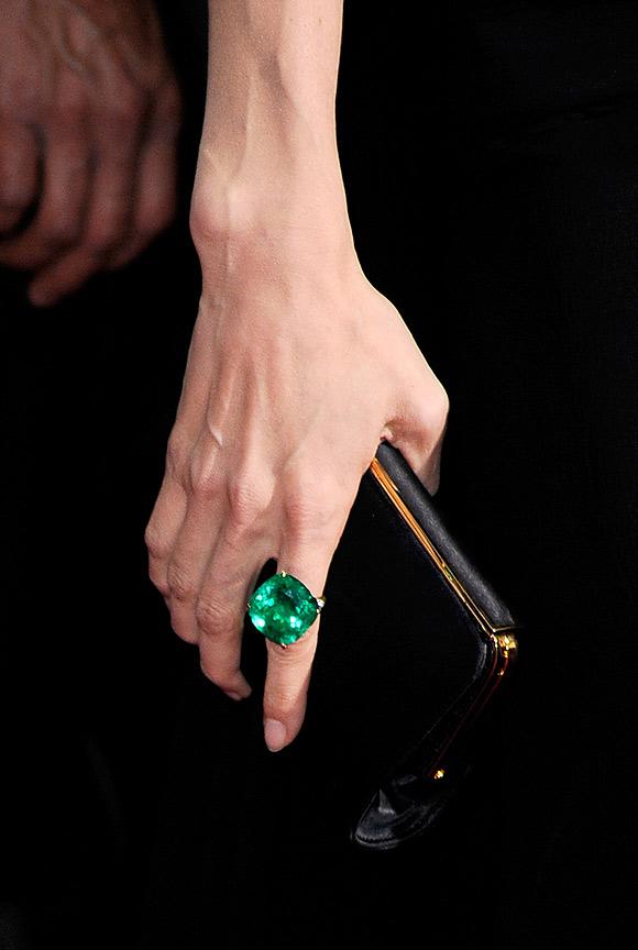 Angelina Jolie Emerald Earrings