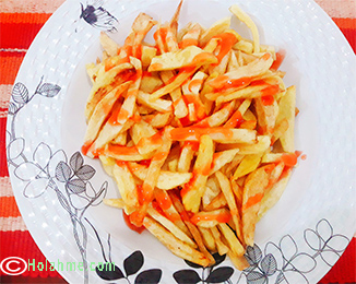Homemade crunchy fries method 1