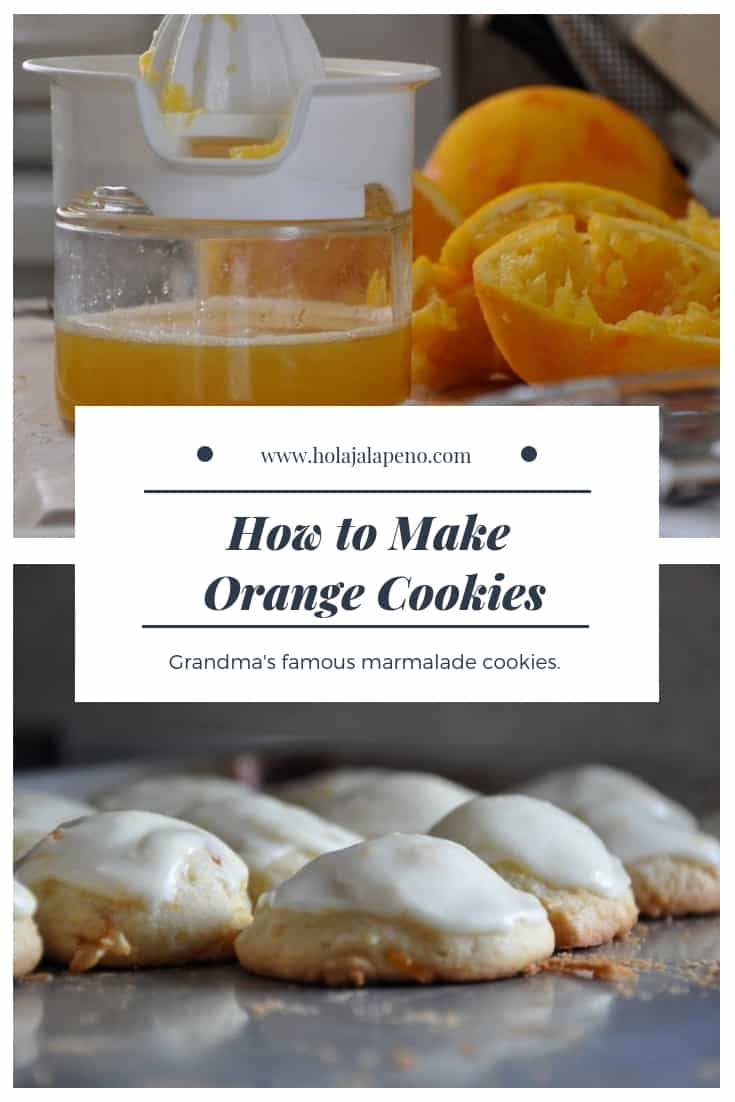 Make Grandma's famous orange cookies for Christmas this year with marmalade and sour cream these will melt in your mouth. #orangecookies #sourcreamcookies #christmascookies #orange