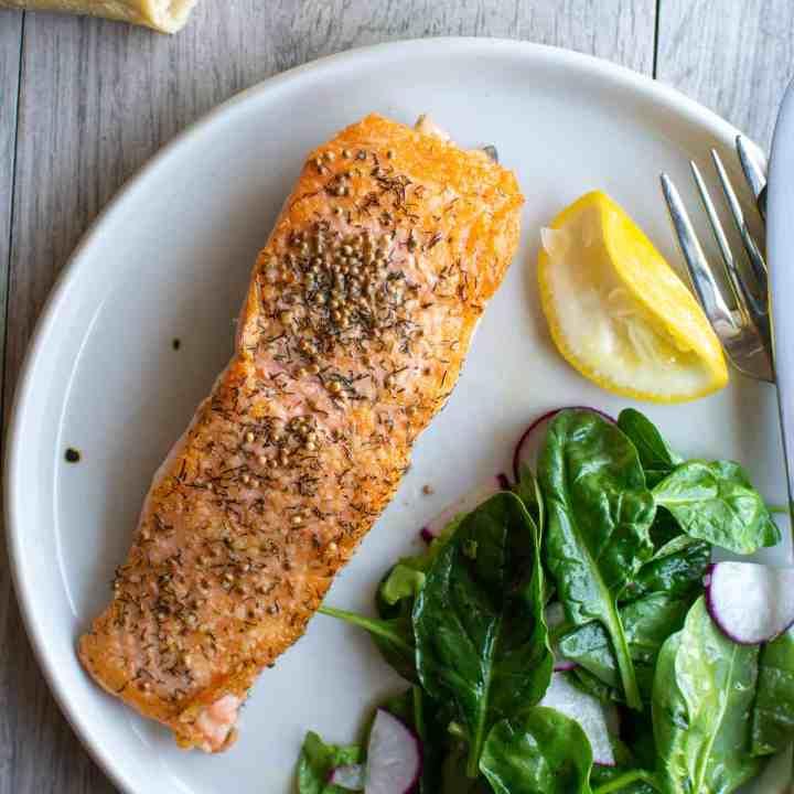 Dill and Mustard Seed Salmon Recipe