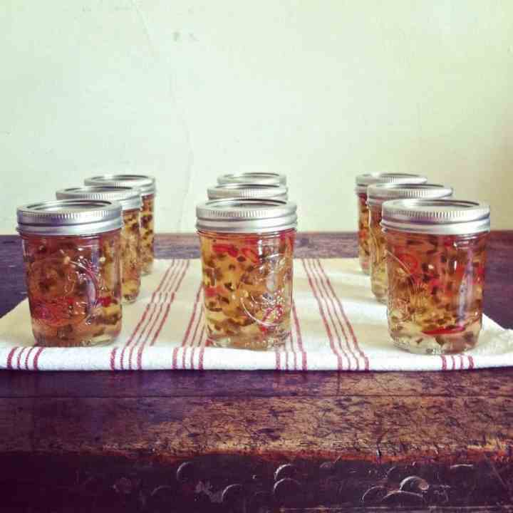 Apple Hot Pepper Jelly + Cheddar Pie Crust Crackers