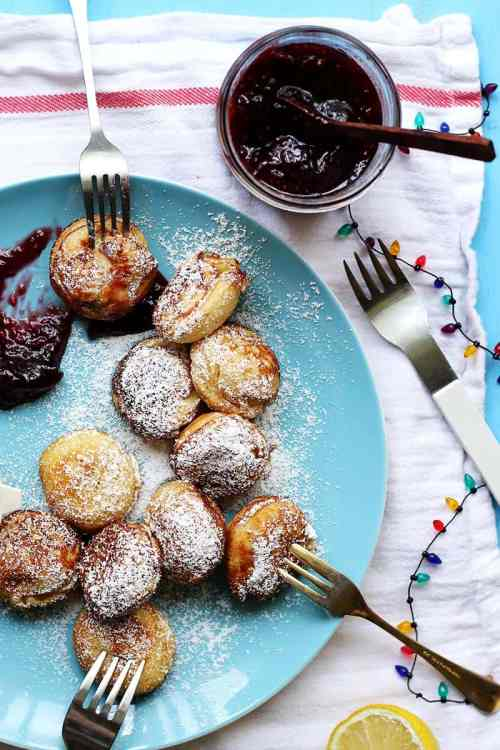 Aebleskiver with Vanilla and Jam from The Sugar Hit