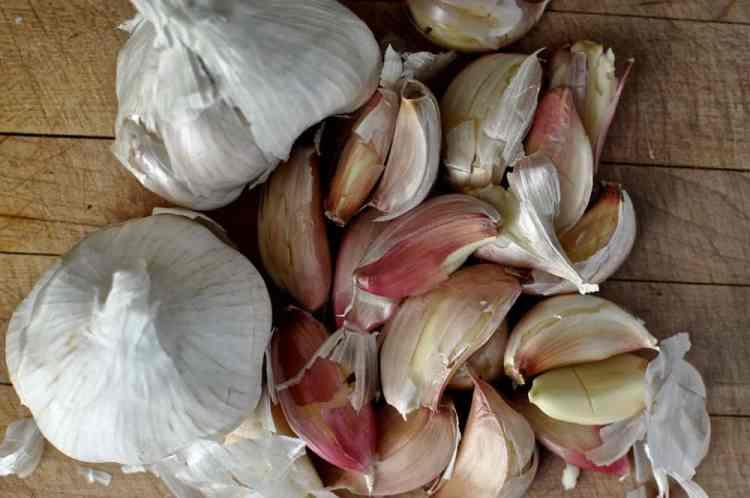 Garlic Roast Chicken with Garlic Sauce and Garlic