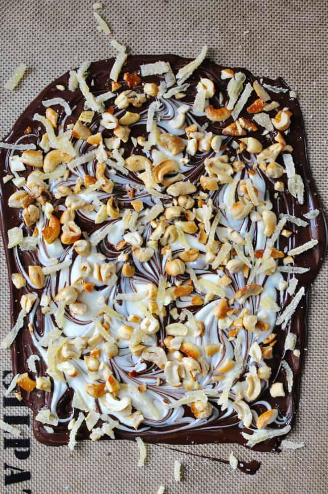 Dark and White Chocolate Bark Recipe