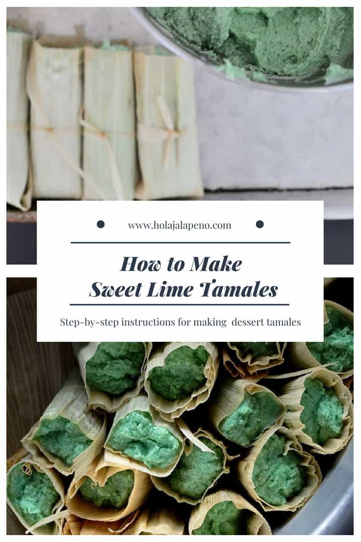 Sponge cake-like in texture, these vibrant sweet lime tamales are light, airy, and full of tangy lime flavor. Gluten and dairy free! #tamales #sweettamales #tamalerecipe #desserttamales