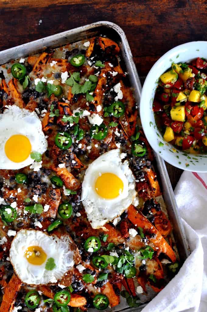 Loaded Sweet Potato Breakfast Nachos Recipe