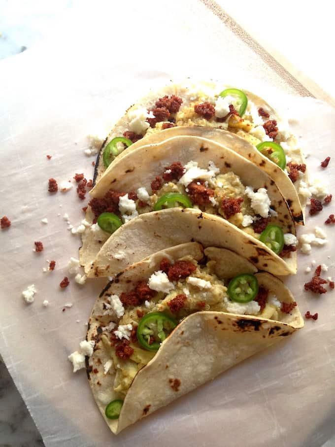Quinoa and Cheese Breakfast Tacos Recipe