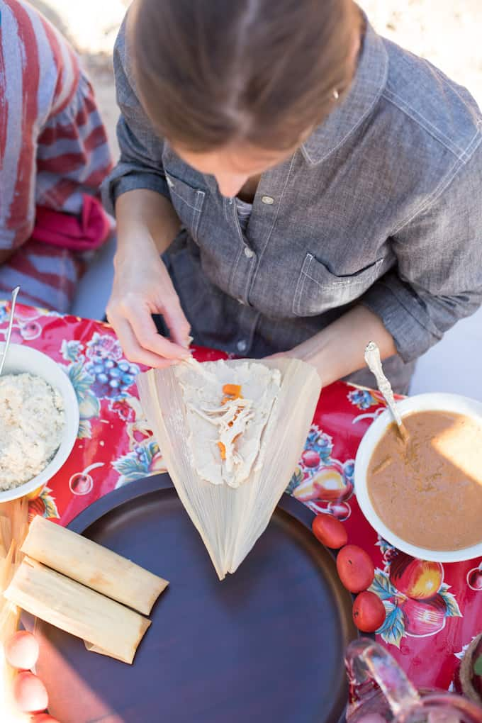 Chicken Tamales with Manchamantel Mole Recipe @holajalapeno