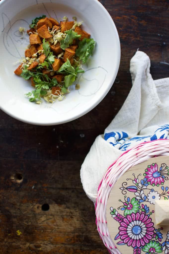 sweet potato and lentil tacos recipe