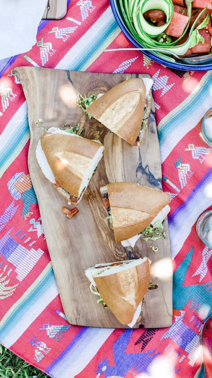 This is what you should bring on a picnic date. These 5 Picnic Essentials are the foods you'll pack over and over again this summer. A menu so delicious and easy, you'll be picnicking on the regular. #ad #picnic #picnicrecipes #picnicfoods #picnicideas