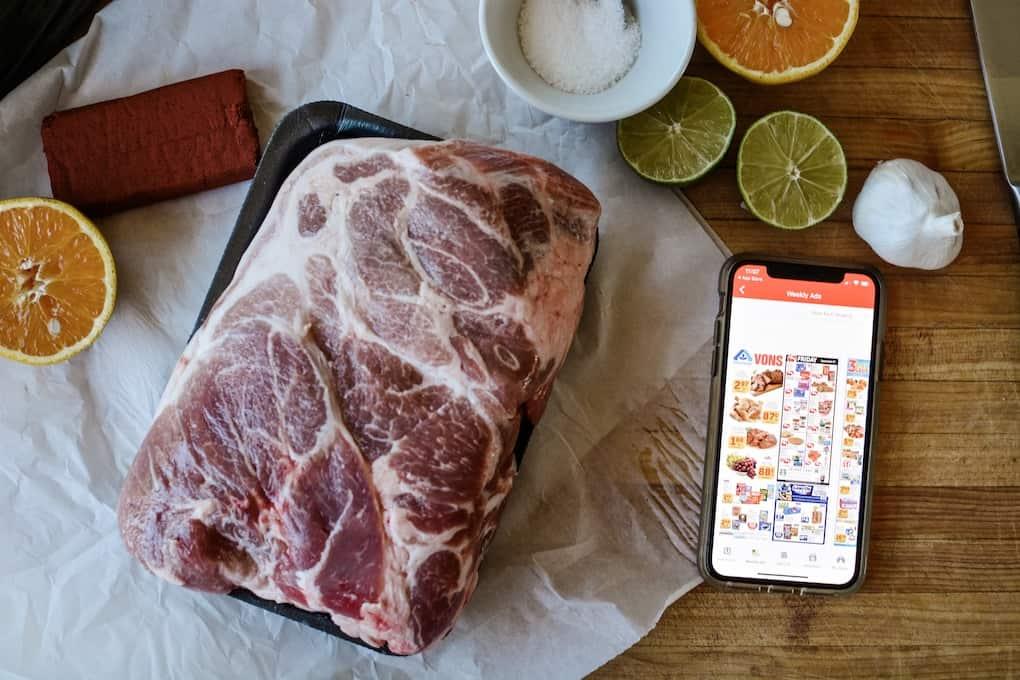 Pork Shoulder getting ready to be made into Mexican Pulled Pork sandwiches. #holajalapeno #pork #porkshoulder