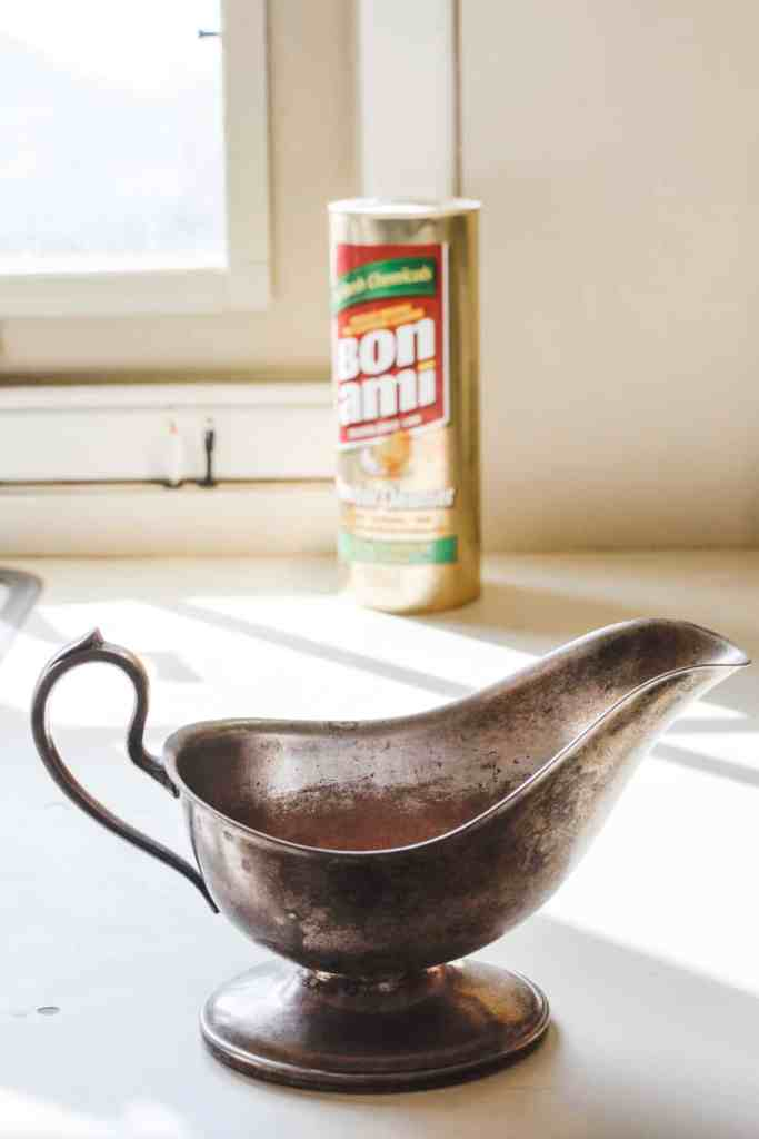 Even sterling silver is easy to clean with Bon Ami! #cleaninghacks #kitchencleaning
