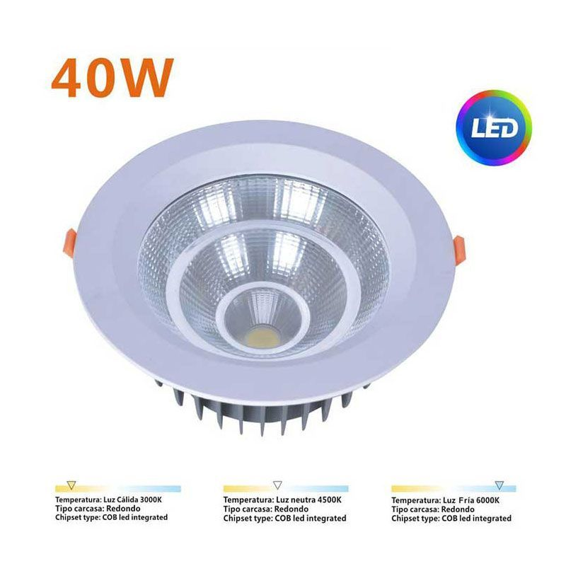 Downlight LED 40W Comercial
