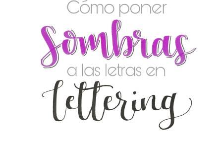 hacer letras con sombras lettering