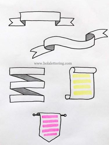 cintas para apuntes en lettering