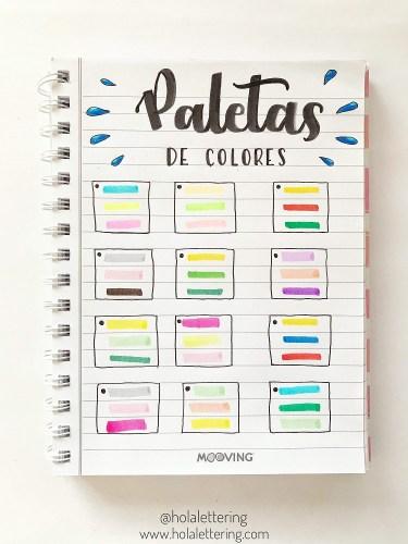 paleta de colores lettering