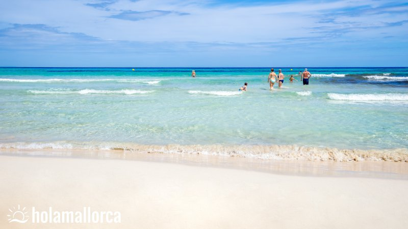 playa de sa coma der weisse strand