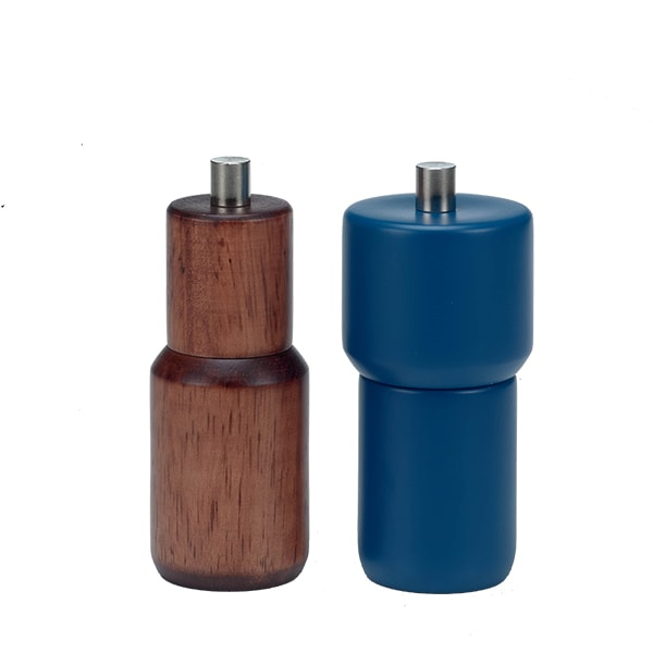 "Holar Salt And Pepper Mill Wood Mill Sleeker Series HL-84 HL-85 Pepper Mill 4.5""H"