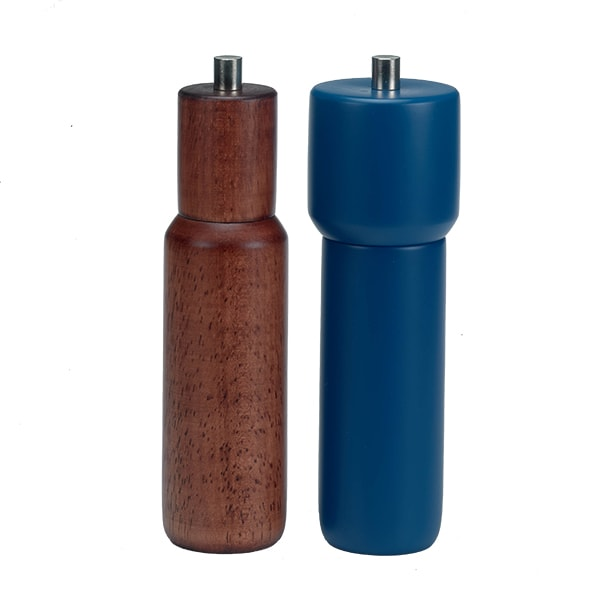 "Holar Salt And Pepper Mill Wood Mill Sleeker Series HL-84 HL-85 Pepper Mill 8""H"