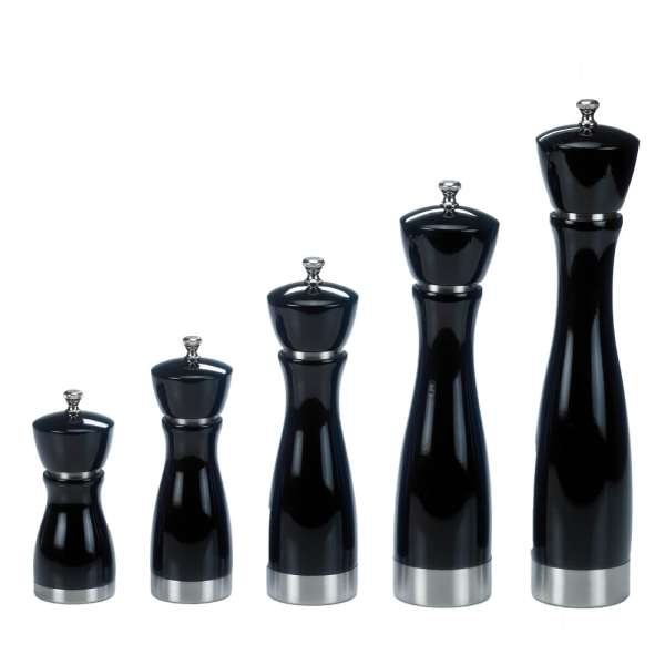 BA2SS-PUBK Black Pepper Grinder with Stainless Steel