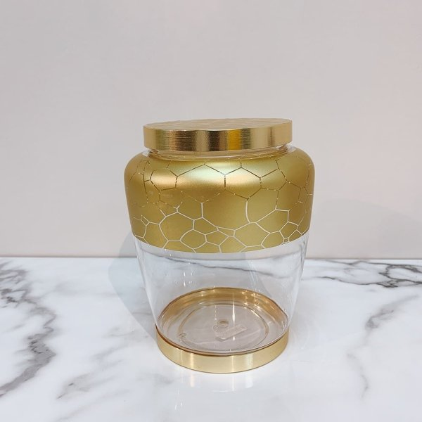Fashionable Gold Pattern Food Canister 2