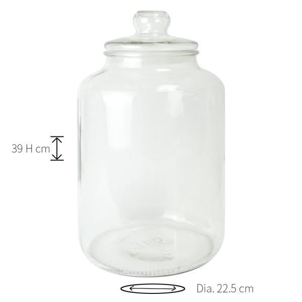 GCA-10L glass jar dimension