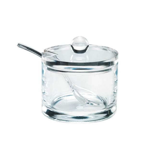 Holar AZ-12 Crystal Clear Plastic Jam Jar