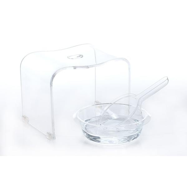 Holar - Bathroom - Acrylic Shower Bench with Wash Basin and Water Ladle