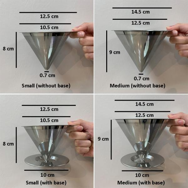 Holar - Coffee - Coffee Filter - PS-DC02 Reusable Stainless Steel Single Coffee Dripper - 2