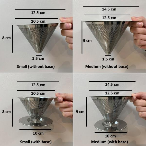 Holar - Coffee - Coffee Filter - Reusable Stainless Steel Double Coffee Dripper - 2