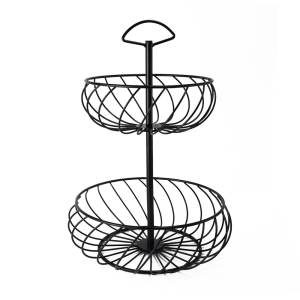 STAND-19 2-Tier Metal Wire Basket