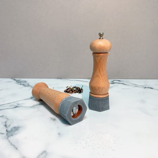 Holar - Salt And Pepper Mill Grinder - Wood Mill - Wood And Concrete Series - CEC-08 Pepper Mill - 2