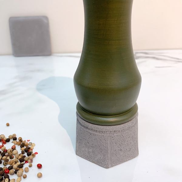 Holar - Salt And Pepper Mill Grinder - Wood Mill - Wood And Concrete Series - CEC-08 Pepper Mill - 3
