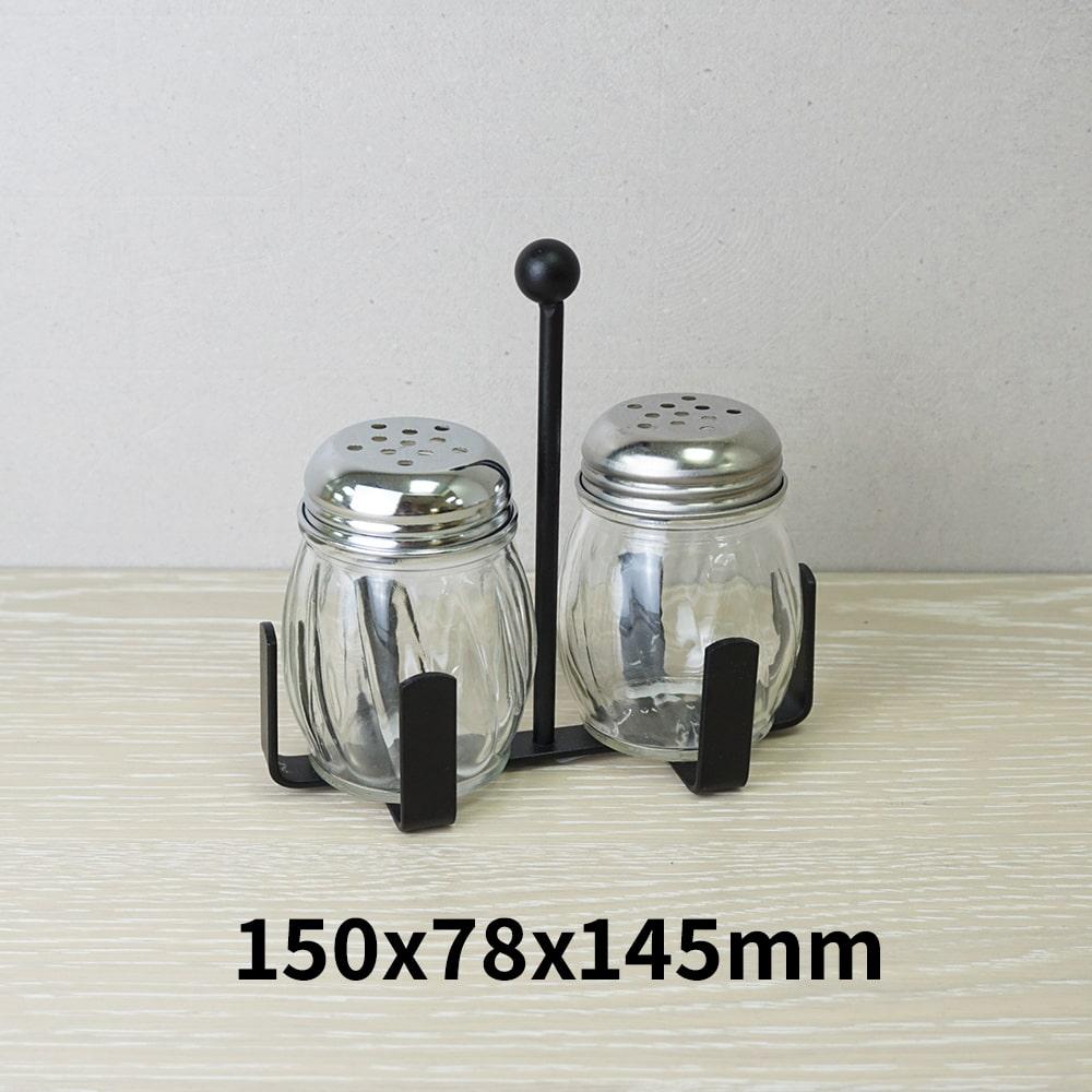 Holar - Salt Pepper Holder Stand Tray - Salt and Pepper Shaker Set Stand of 2 - WSD-I